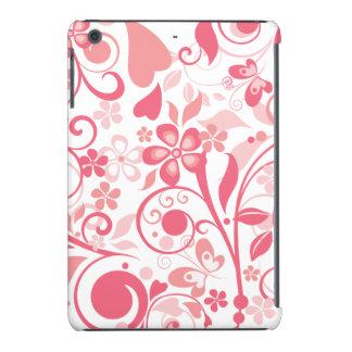 Ornamento floral cor-de-rosa capa para iPad mini retina