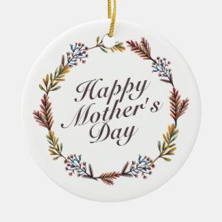 Ornamento floral da grinalda do dia das mães feliz