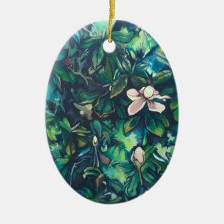 Ornamento floral da magnólia tropical