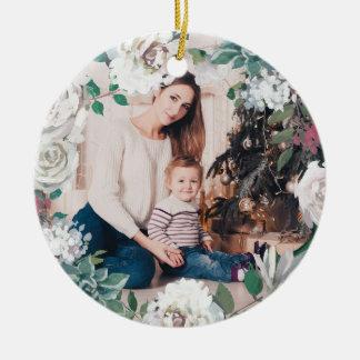 Ornamento floral de florescência da foto do Natal