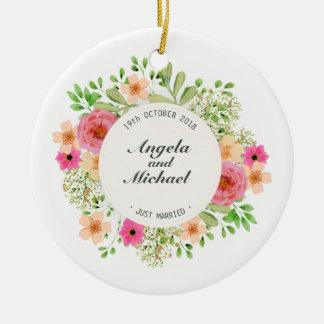 Ornamento floral do casamento | do recem casados