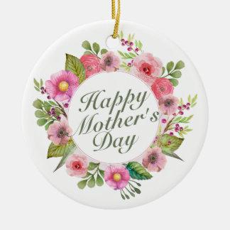 Ornamento floral do quadro do dia das mães feliz