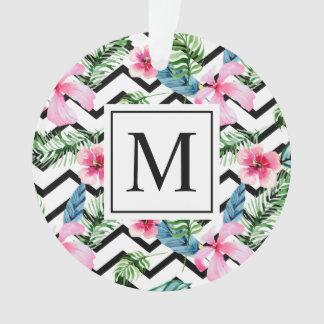 Ornamento floral tropical do monograma | do