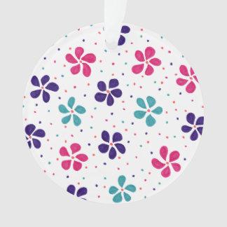 Ornamento Flores e teste padrão de pontos