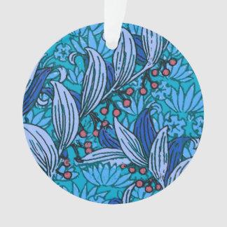 Ornamento Flores florais azuis do Batik