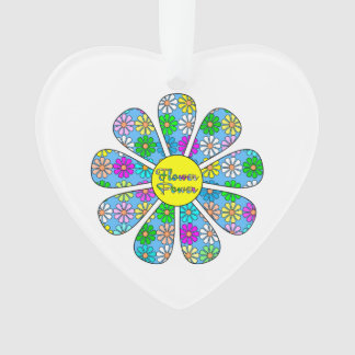 Ornamento Flower power feliz