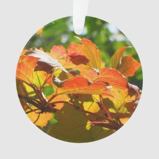 Ornamento Folhas de outono frente e verso