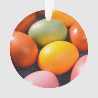 Ornamento Foto colorida do costume dos ovos da páscoa