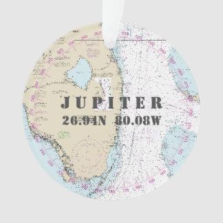 Ornamento Foto comemorativa 2-Sided náutico Jupiter FL