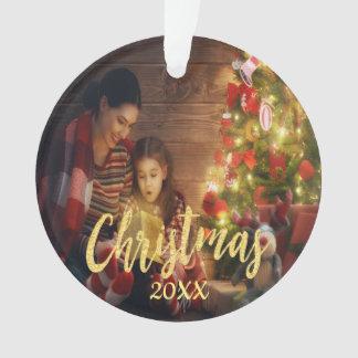Ornamento Foto de família feita sob encomenda do Natal com