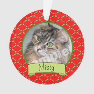 Ornamento Foto e nome do gato do gatinho de Adoranle