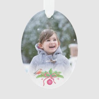 Ornamento Foto na moda encantador do feriado da aguarela