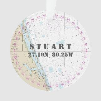 Ornamento Foto náutica 2-Sided Stuart FL comemorativo
