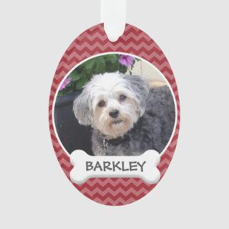 Ornamento Foto personalizada do animal de estimação com osso