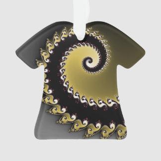 Ornamento Fractal. Ouro, prata, preta