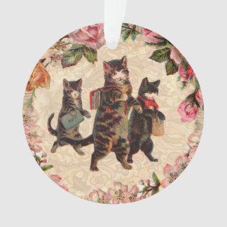 Ornamento Gatos do vintage dos gatinhos