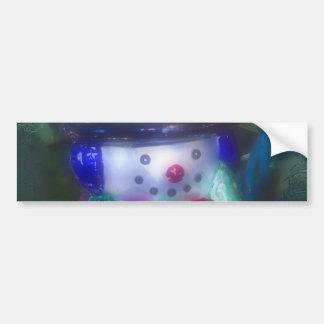 Ornamento gelado do boneco de neve adesivos