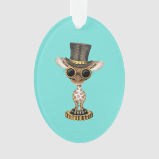 Ornamento Girafa bonito do bebê de Steampunk