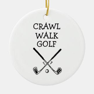 Ornamento Golfing do bebê do jogador de golfe do