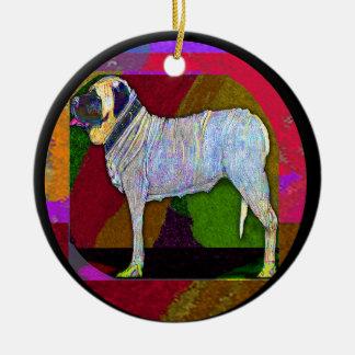 Ornamento grande do cão liso