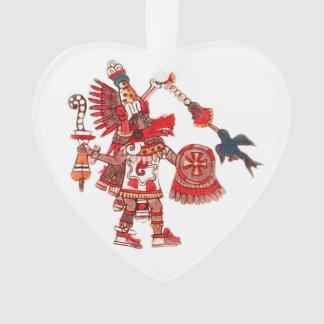 Ornamento Guerreiro asteca do shaman da dança