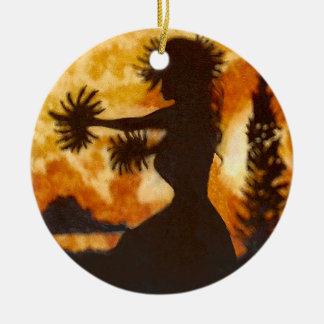 Ornamento havaiano do dançarino de Hula
