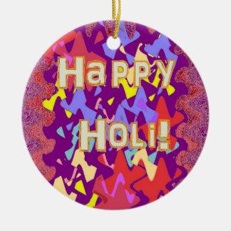 Ornamento Hindu feliz do cumprimento de Holi