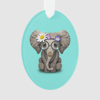 Ornamento Hippie bonito do elefante do bebê