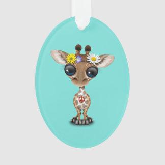 Ornamento Hippie bonito do girafa do bebê