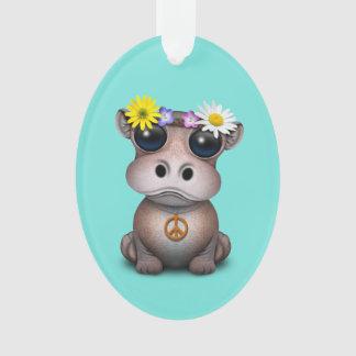 Ornamento Hippie bonito do hipopótamo do bebê