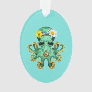 Ornamento Hippie verde bonito do polvo do bebê