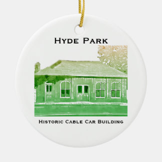 Ornamento histórico do teleférico de Hyde Park