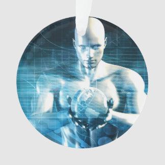 Ornamento Homem que guardara o globo com indústria da