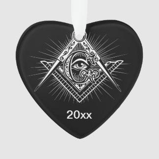Ornamento Illuminati todo o símbolo de vista do Freemason do