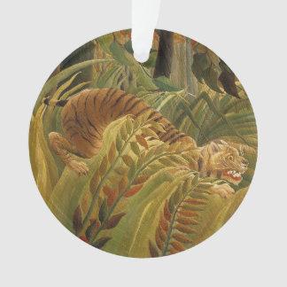 Ornamento Impressão tropical da arte do tigre da selva de