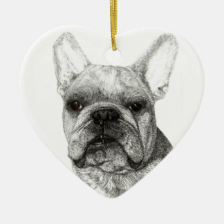 Ornamento inglês do Natal 2016 do buldogue