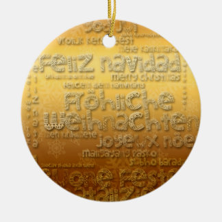 Ornamento internacional dourado de Weihnachten