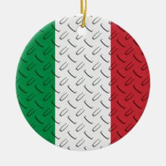Ornamento italiano da placa do diamante da