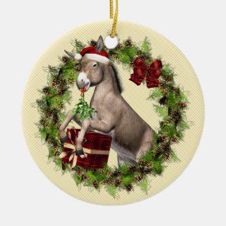 Ornamento italiano de Buon Natale do asno do Natal