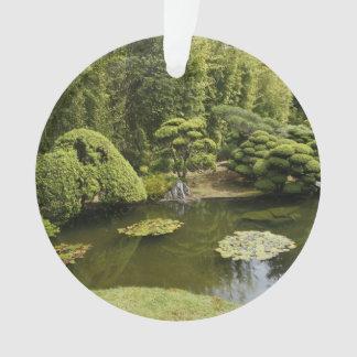 Ornamento japonês da lagoa do jardim de chá de San