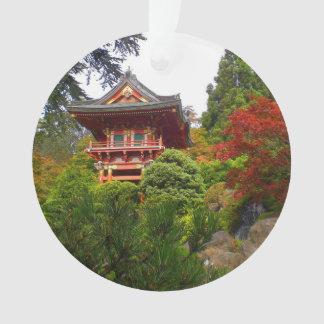 Ornamento japonês da porta #3 do templo do jardim