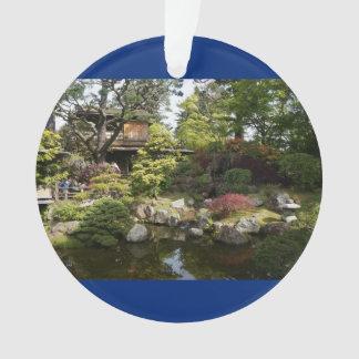 Ornamento japonês do azul do jardim de chá #6 de