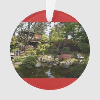 Ornamento japonês do vermelho do jardim de chá #6