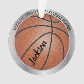 Ornamento Jogador de basquetebol do mundo o grande