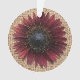 Ornamento Jóia - pendente - girassol de serapilheira e de