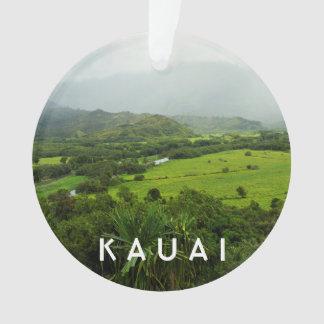 Ornamento Kauai, foto da paisagem 2 de Havaí & texto