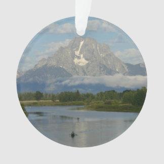 Ornamento Kayaking no parque nacional grande de Teton