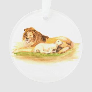 Ornamento Leão e cordeiro da árvore de Jesse do advento