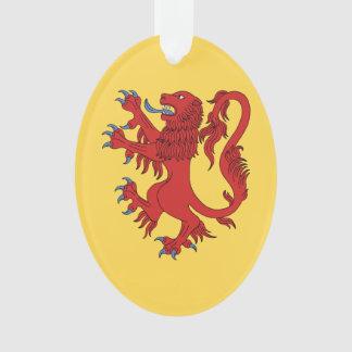 Ornamento Leão Gules desenfreado