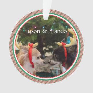 Ornamento Lembrança datado do primeiro Natal dos amantes do